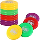 Liberty Imports 12 PCS Plastic Flying Disks Set for Outdoors Beach Backyard Sports Classic Play Discs for Kids & Adults (9-Inches)