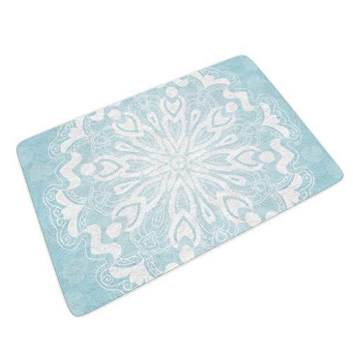 O2ECH-8 4 maten lichtblauwe amandela zachte mat vlak profiel buiten & binnen salontafel te gebruiken – amandela kunst voor nieuwjaar decoreren