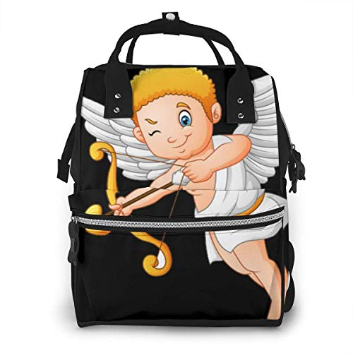 UUwant Sac à Dos à Couches pour Maman Large Capacity Diaper Backpack Travel Manager Baby Care Replacement Bag Nappy Bags Mummy Backpack,(Cartoon Cupid Angel Collection Set1