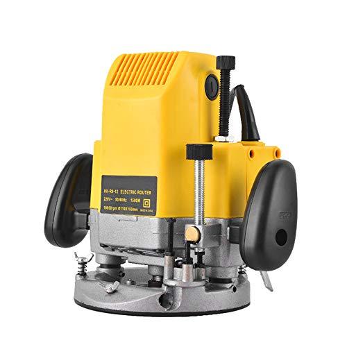 KKmoon Fresatrice Elettrica 1580 W 10000r / min, Fresatrice per Rifilatrice per Legno con Router di Legno