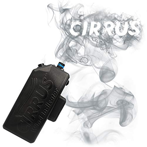 Cirrus Wind Indicator - K9 Dog Scent Training Smoke Indicator with LED Flashlight and Power Bank - Rechargeable Detector with Replacement Wind Direction Cartridges
