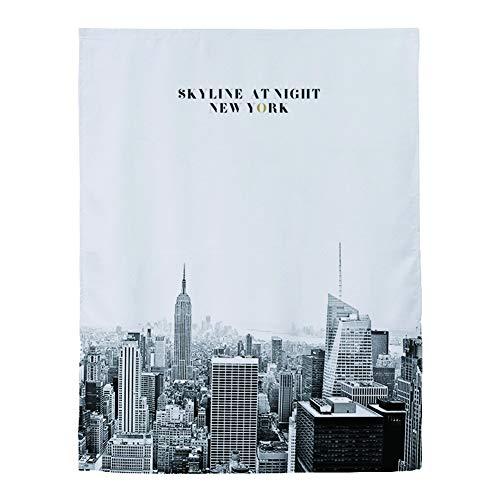BEIAKE Vorhänge Mit New York City Muster Jalousien Blackout Kurze Vorhänge Für Wohnzimmer Badezimmer,W1.2 * H1.8m