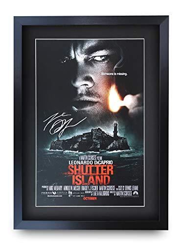 HWC Trading Shutter Island A3 Gerahmte Signiert Gedruckt Autogramme Bild Druck-Fotoanzeige Geschenk Für Leo Dicaprio Filmfans
