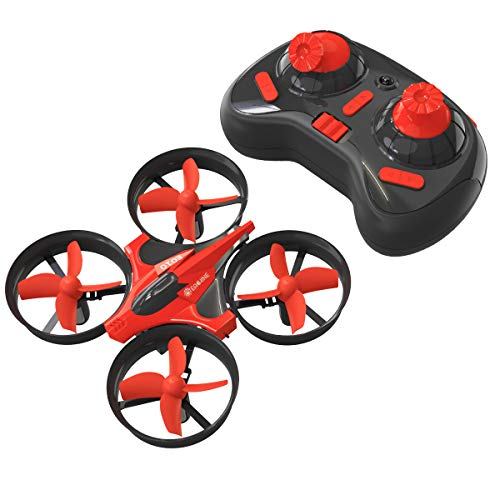 Mini Drones for Kids, EACHINE E010 2.4GHz 6-Axis Gyro Remote Control Best Quadcopter Nano Drone for Adults Beginners - Headless Mode, 3D Flip, One Key Return (Red)