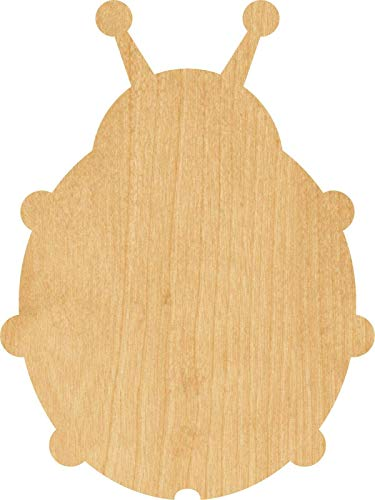 Ladybug #0810 Laser Cut Out Wood Shape Craft Supply - Woodcraft -Thickness:1/8 Inch - Size:3'