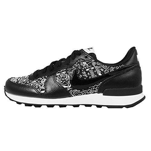 Nike Damen W Internationalist Print Laufschuhe, Schwarz/Schwarz-Weiß, 37.5 EU