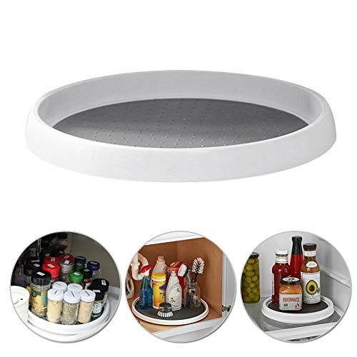 12-Zoll rutschfestes drehbares Gewürzregal, rundes Küchenregal für Sideboard und Küchenschrank, Gewürzständer zur Aufbewahrung von Pfeffer, Backzutaten und Konserven