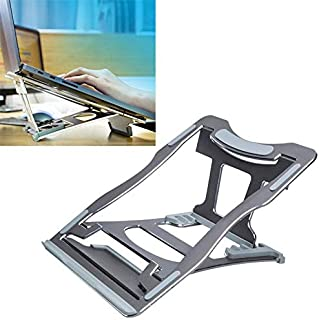 LZSCOMPUTER Aluminum Alloy Cooling Holder Desktop Portable Simple Laptop Bracket, Six-Stage Support, Size: 21x26cm