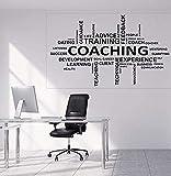 Adhesivo de pared, calcomanía artística, decoración para dormitorio, jugador, nube de palabras, entrenador, consejo de vida, entrenamiento, decoración del hogar, 95x57 cm