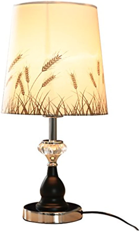 Europischen Stil Tischlampe, einfache moderne dekorative Schlafzimmer Nachttisch Kinder Schlafzimmer Licht E27 (Farbe   Schwarz)