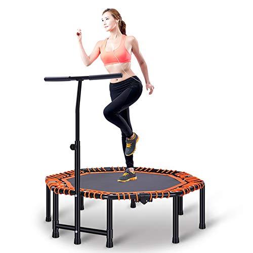 ZL Fitness-Trampolin, Trampolin Faltbar, 3 Höhenverstellbarer Haltegriff Jumping Trampolin Inkl. Randabdeckung, Nutzergewicht Bis 250Kg, Für Indoor/Outdoor