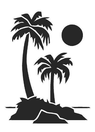 Palmen Airbrush, Wand-Kunst, aus Mylar, Schablone, wiederverwendbar, 125µm