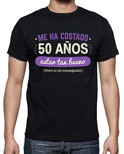 latostadora Camiseta 50 Años para Estar Tan Bueno, 1968 - Camiseta Hombre clásica, Negro Talla XL
