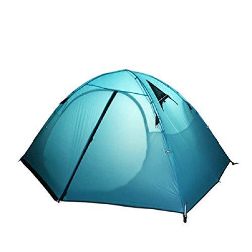 AOGUHN tent - light 2 buitentent superlicht 20D siliconen gecoate dubbeldeks aluminium paal regenbestendige camping ijsvistent