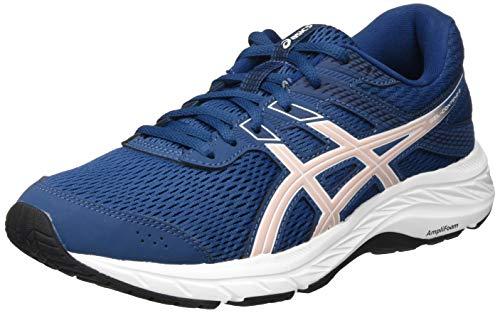 ASICS Women's Gel-Contend 6 Running Shoe, Mako Blue Ginger Peach, 3.5 UK