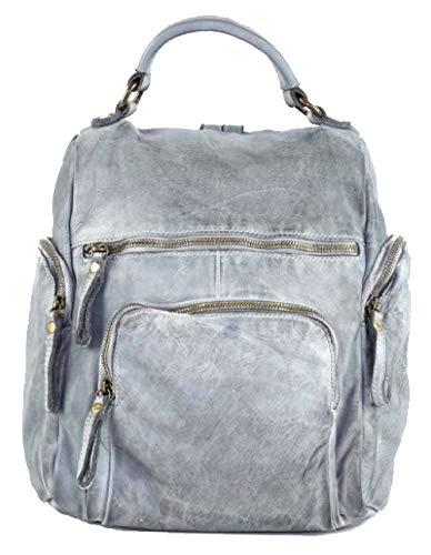 BZNA Bag Stella hell grau Backpacker Designer Rucksack Damenhandtasche Schultertasche Leder Nappa sheep ItalyNeu