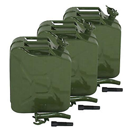 Hype 3X 5 Gallon 20L Gas Gasoline Fuel Army Army Backup Metal Steel Tank