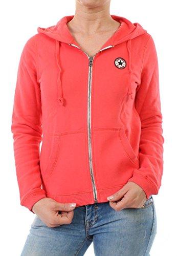 Converse Zipper Women GF CORE Fleece Full Zip 08833C Rot, Größe:S