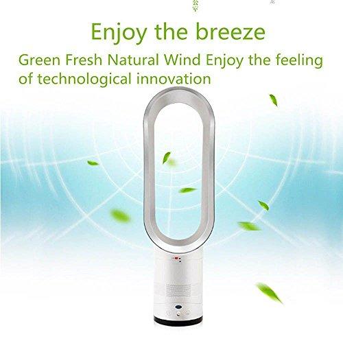 Luerme Elektrischer Blattloser Ventilator Fernbedienung Air Flow Cooling Cool Fan Home Portable Desktop Stumm L/üfter Haushaltsnegativ-stummes Ionenreinigungsventilator