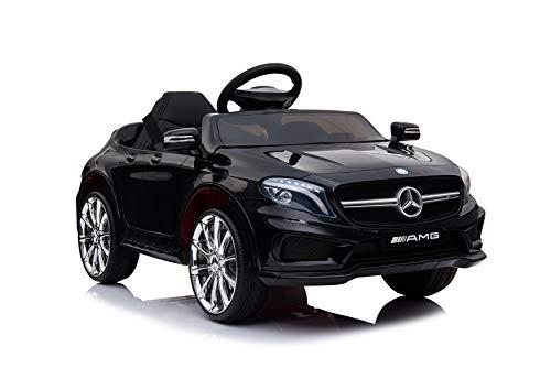 Kaufexpress Mercedes Benz GLA 45 AMG Kinderelektroauto Elektrofahrzeug Kinderfahrzeug 12V Fernbedienung USB MP3 Anschluss in Schwarz