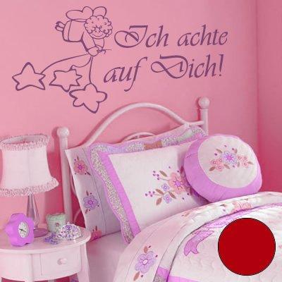 A383 Sticker mural « Ich achte auf Dich » Rouge 90 x 45 cm