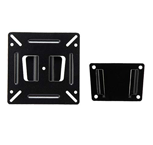 """JXMTSPW Monitor Mount Low Profile Fixed Wall Bracket Most 14-24 Inch TVs Computer Fit 15"""" 16"""" 21"""" 22"""" 23"""" Flat Curved Screen up to VESA 100x100mm 15KG Max Load Capacity"""