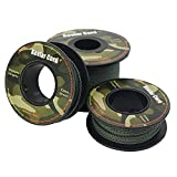 emma kites Camo Green Kevlar Braided Cord 120Ft 300Lb Abraision Flame Resistant Trip Line Cord-Friction Saw Tactical Survival Cord Compact Roll