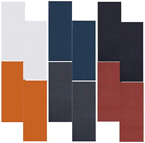 Parches Piel Cuero Artificial,TANGGER 12 Piezas Parche de Reparacion de Cuero Autoadhesivo para Sofás Asientos de Coche y Bolsos,6 Colores (10 * 20 cm)