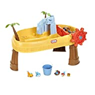 TURN WHEEL TO MAKE WAVES - Little Tikes Island Wavemaker is the only water table that lets little ones create waves with an easy-to-use steering wheel – resulting in hours of imaginative water play CREATE A WATERFALL - Skull island turns into a water...