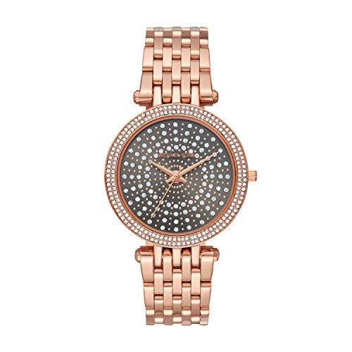 Michael Kors Women's Darci Quartz Watch with Stainless Steel Strap, Rose Gold, 8 (Model: MK4408)