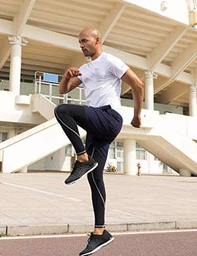 Baleaf T-Shirt Manches Courtes Homme Noir Code L.