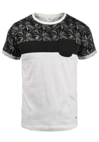 !Solid Florian Herren T-Shirt Kurzarm Shirt Rundhals-Ausschnitt aus 100% Baumwolle Meliert, Größe:S, Farbe:Black (9000)