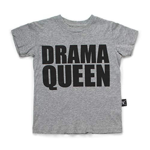 NUNUNU Drama Queen T-Shirt (2-3 Years) Heather Grey