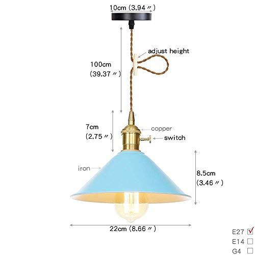 Beautiful lampen / 6-Color Holder Industria smeedijzeren lampenkap hanglamp retro metaal koperen lamp hanglamp schakelband 27 Edison verlichting voor restaurant bar