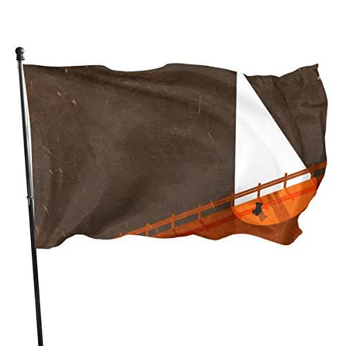 Teddy Bear Is Not Alone Farbe und UV-beständige Leinwand und doppelt genähte Nationalflaggen mit Messingösen, 90 x 2254 cm