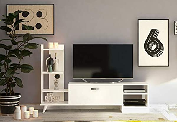 Decorotika Rosemary 62 TV Stand Entertainment Center
