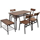 Dporticus 6-Piece Kitchen & Dining Room Sets -1 Table, 4...