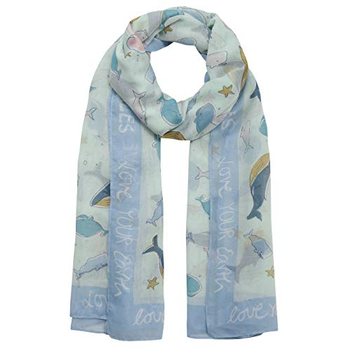 "CODELLO Take Care Schal ""Whale Love"" aus recyceltem Polyester"