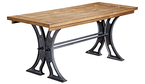 """Martin Furniture Tuscan Chestnut Finish/Black Metal Base Toulouse Writing Table Desk Dimensions: 72"""" W x 30"""" D x 30"""" H Weight: 163 Lbs"""