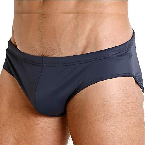 Emporio Armani Slip Costume Uomo Mare o Piscina Swimwear Articolo 211722 9P405, 06935 Blu Navy - Navy Blue, Taglia 46
