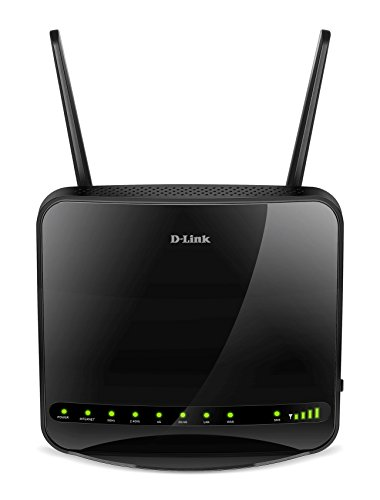 D-Link DWR-953 Router 4G LTE Wireless Dual Band AC1200, 4 Porte LAN Fast Ethernet, Slot per Micro SD Card Integrato, 3 Antenne Esterne, Multi-WAN, Nero/Antracite