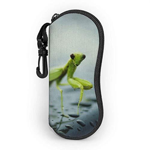 AOOEDM Estuche blando para gafas de sol Mantis, Estuche para gafas con cremallera y clip para cinturón