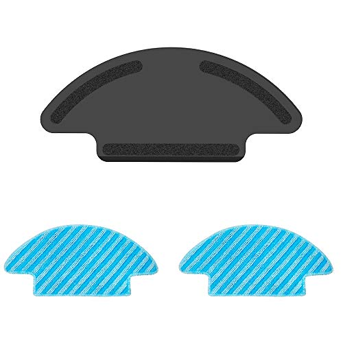 Mop Accessories for Lefant M210 Robot Vacuum Cleaner Easy to Install and Remove Washable Reusable Strong Water-Locking 2 Mop Cloth Without Water Tank