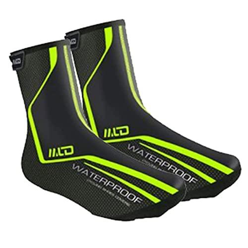 O·Lankeji Cubrezapatillas de Ciclismo Invierno Impermeable Cálido MTB Bicicleta de Carretera Cubrezapatos Protector de Zapatos Cubrezapatillas de Bicicleta para Hombres y Mujeres