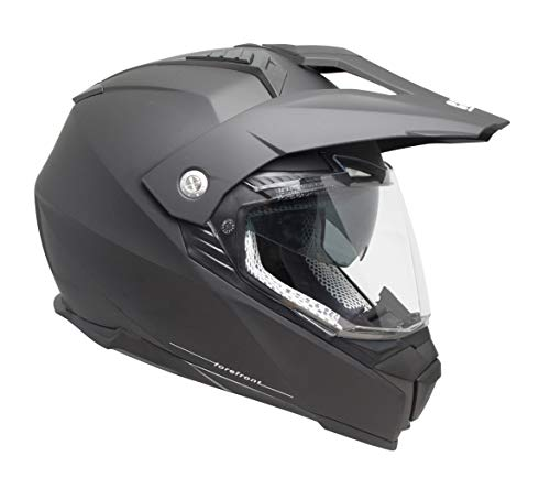 Cross-Integralhelm mit Visier Large FOREFRONT Nero opaco