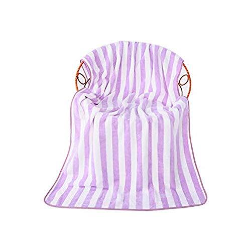 Sipobuy Toalla De Baño De Terciopelo Coral De Secado Rápido, Ligera para Secar, Toalla Suave De Playa Gimnasio De Viaje De Camping, 70x140cm, 2 Unids/Set (Purple)
