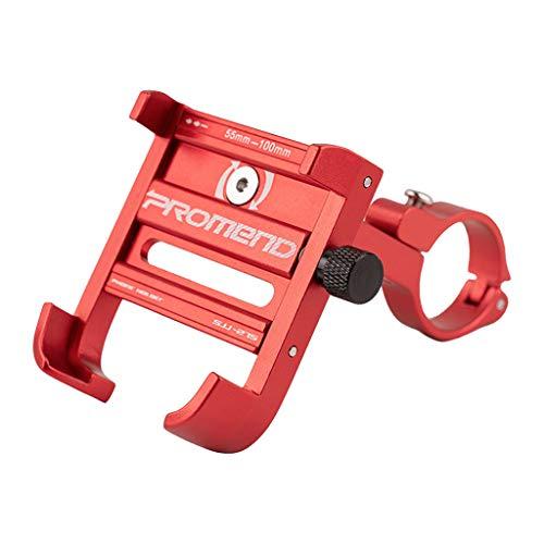 Lucksoon Aluminum Alloy Bicycle Bike Phone Mount Bracket Holder Clip Handlebar Phone Holder, Thousands of People's Choose (red)