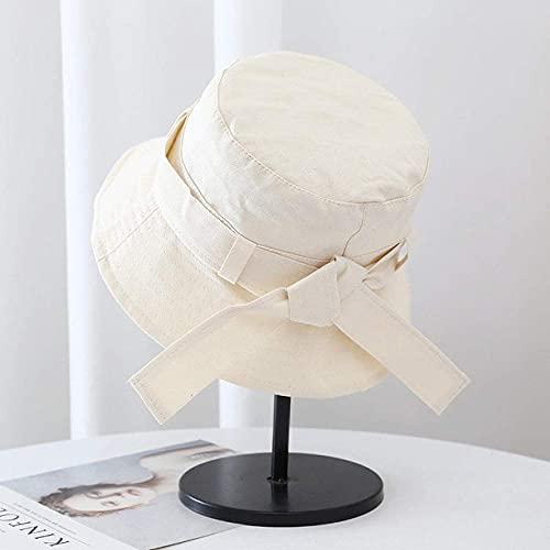 WYZQ Sombreros para el Sol Plegables, para Mujer Sombrero de Pescador de Color sólido Sombrero de Cubo para Lavado con Agua Sombrero de Lavabo de Salida para Mujer Arco Salvaje Sombrero de pro