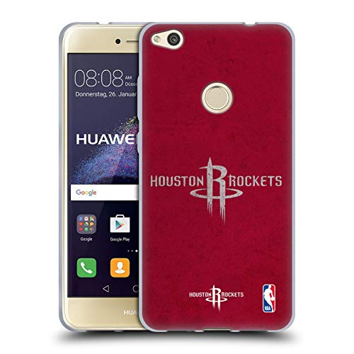 Official NBA Distressed Look Houston Rockets Soft Gel Case Compatible for Huawei P8 Lite (2017)