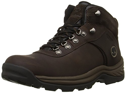 Timberland Men's Flume Waterproof Boot,Dark Brown,8.5 W US